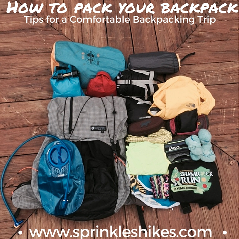 How to Pack Your Backpack — Sprinkles Hikes