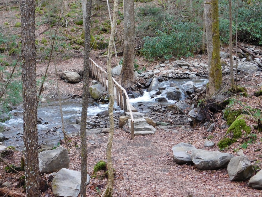 The foot bridge near the trailhead.