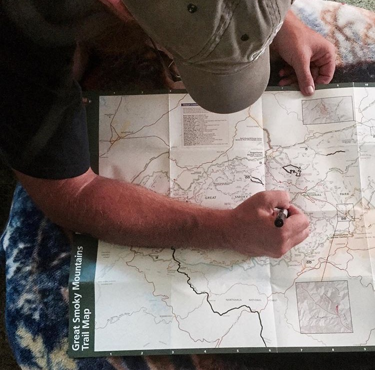 NoKey marking some mapped routes on our map.