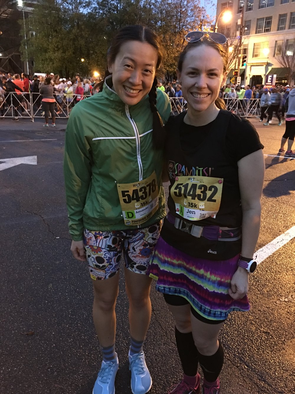 The two best-dressed at Hot Chocolate 15K!
