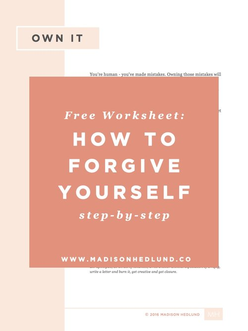 Own It A FREE forgiveness worksheet Madison Hedlund – Forgiveness Worksheet