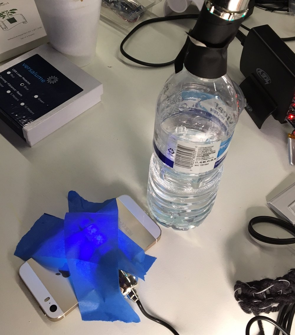 Killing bacteria with UV-C light after sampling two household objects.