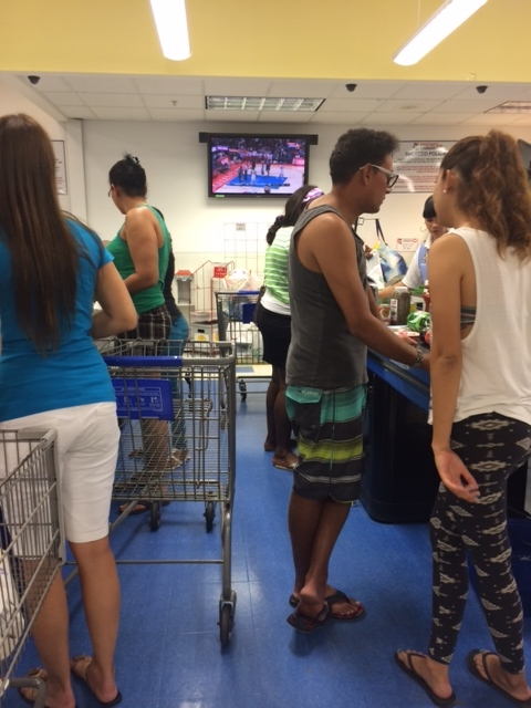 But if you forget and decide to go shopping, at least you'll have some TV to watch while you stand in line.  You and the checker can enjoy the TV, together.
