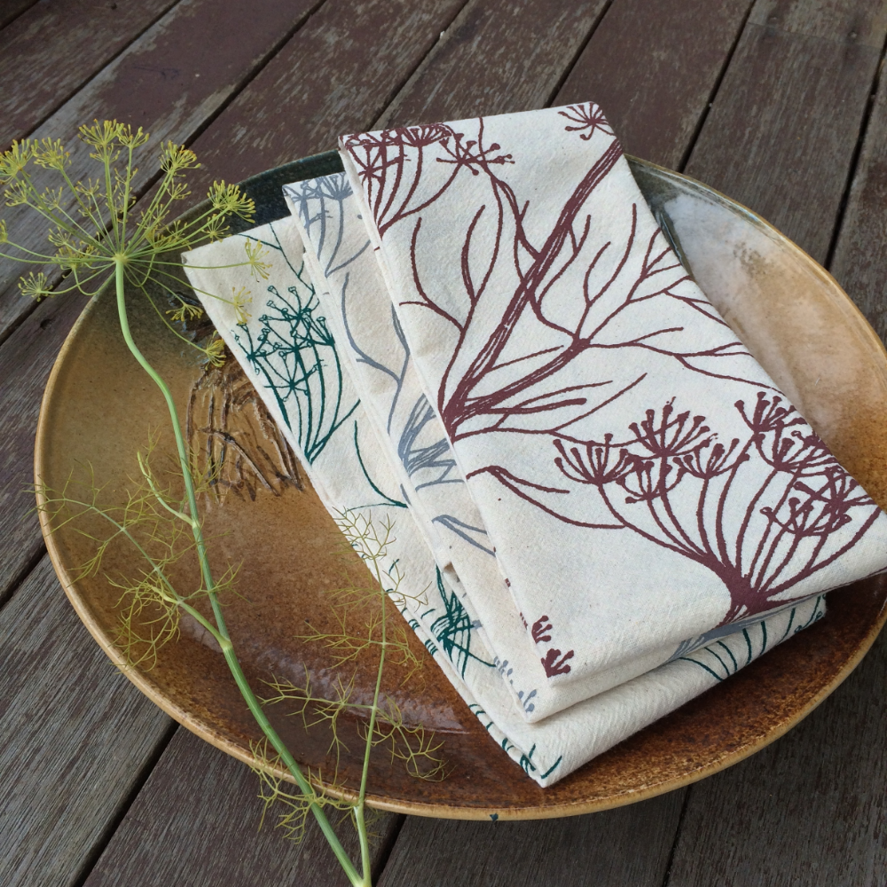 Hearth and Harrow's Dill Flour Sack Towels