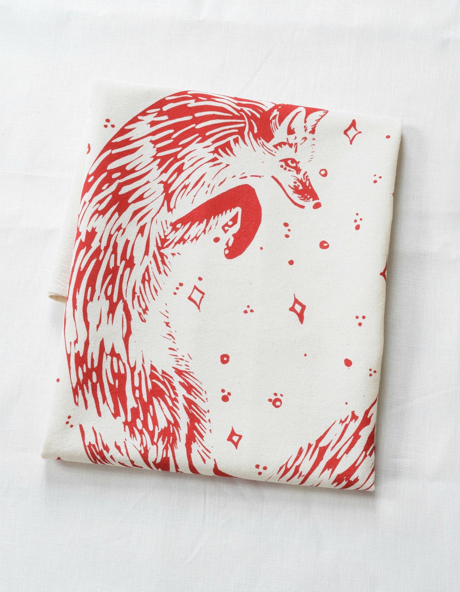 organic celestial fox tea towel hearth and harroworganic celestial