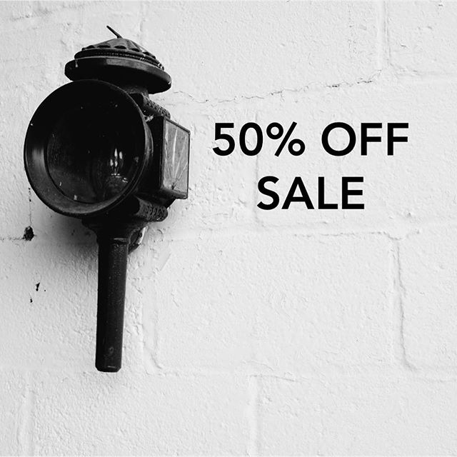 SALE TIME! Half price sale starts today - including leather goods, homewares and grooming products 🖤🖤🖤