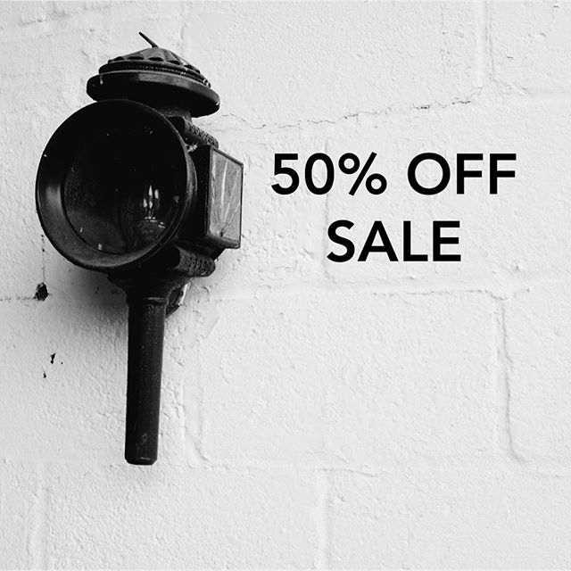 SALE TIME! Half price sale starts today - including leather goods, homewares and grooming products 🖤🖤🖤 #stockup