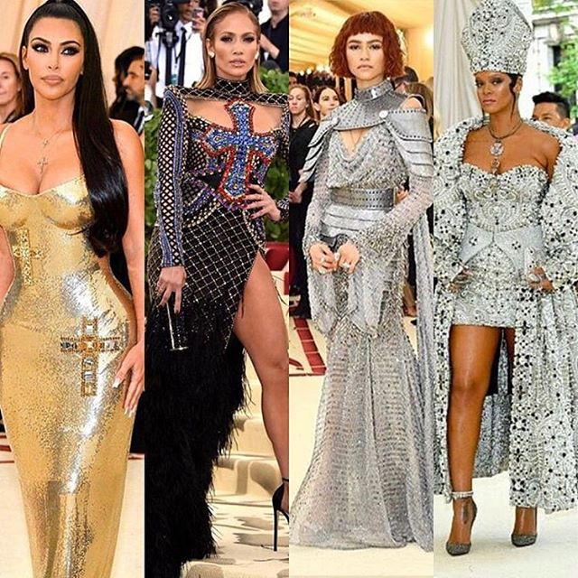 Some of my favorite badass looks from last nights #metgala..... 🖤🔥 • •
