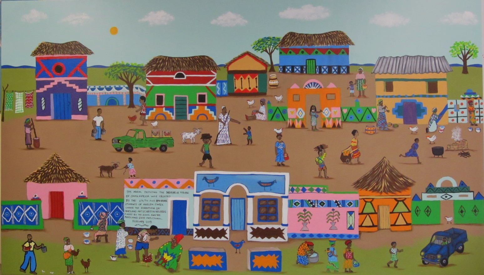 Blog ndebele mural project at harlem park school for Elementary school mural
