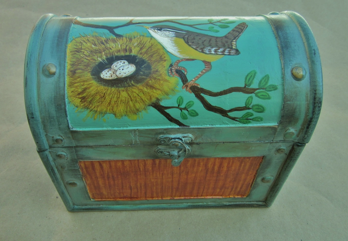 Carolina Wren Chest 8.7w x 7 h x 5.4 d