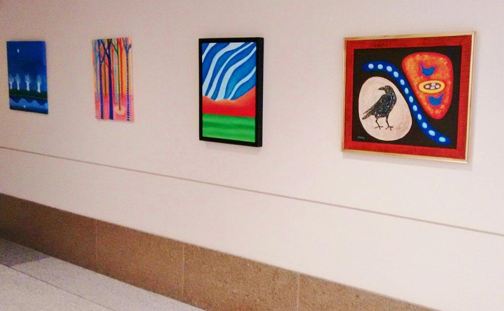 Patterns, 12 paintings by Kristin Helberg
