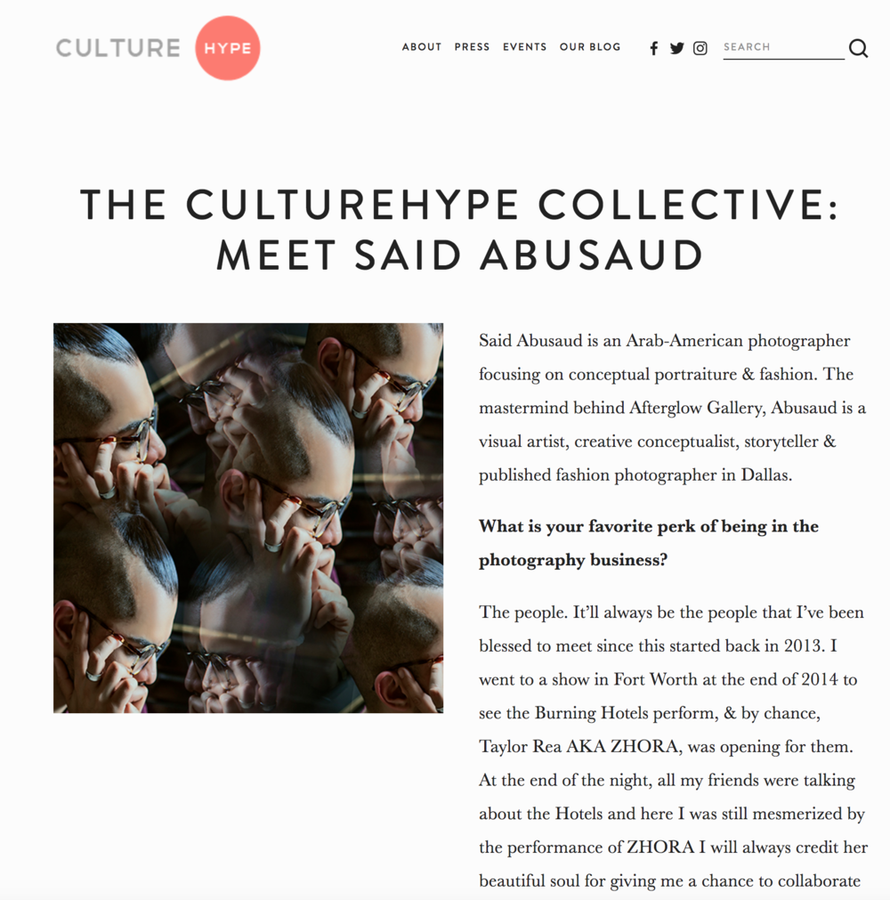 Culture Hype, September 2017