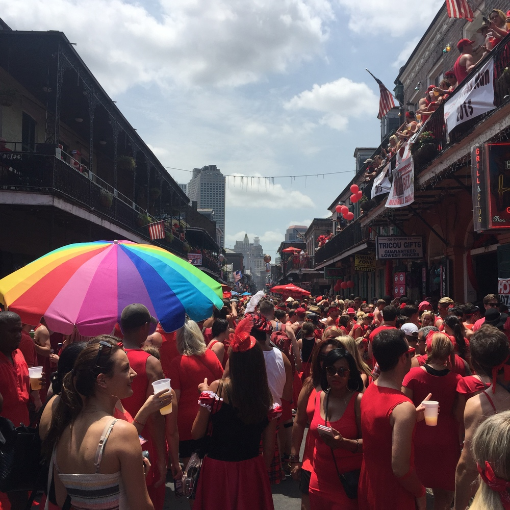 Believe it or not, yes, Mardi Gras is more crowded than this!