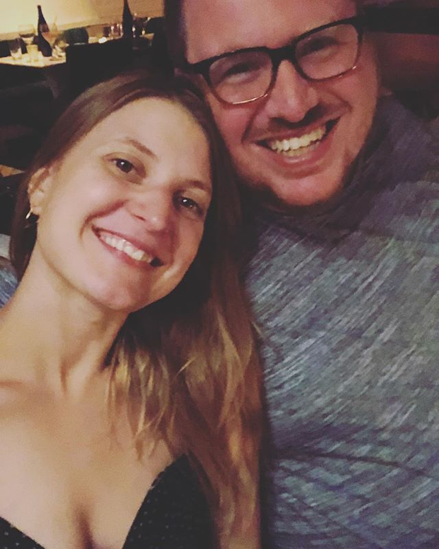 Yesterday. Blurry and happy. Nine years married to my love @caseyfulgenzi ❤️#iloveyouandilikeyou
