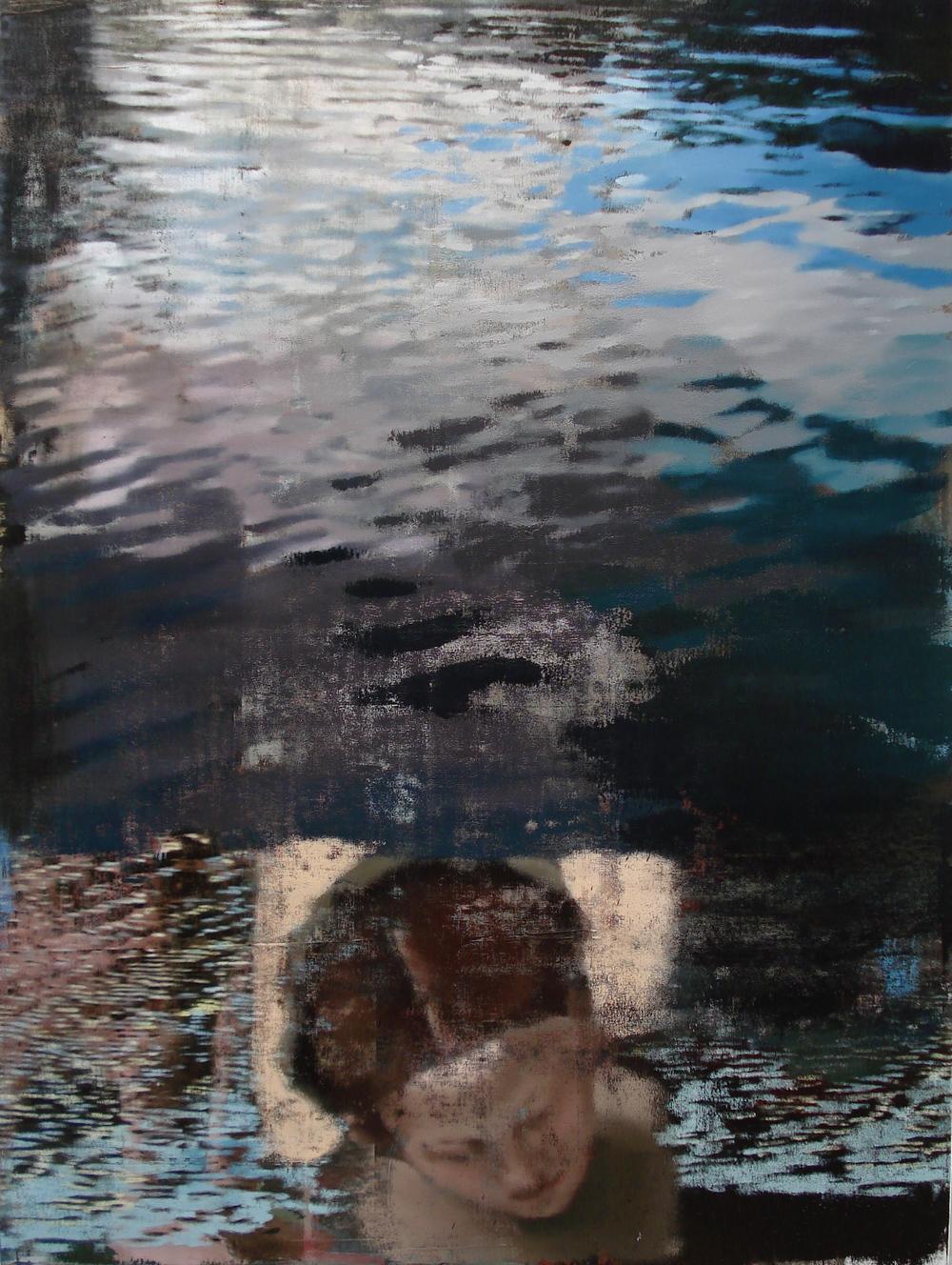 """Sea Around Us, Oil on Linen on Panel, 2010, 80"""" x 60"""""""