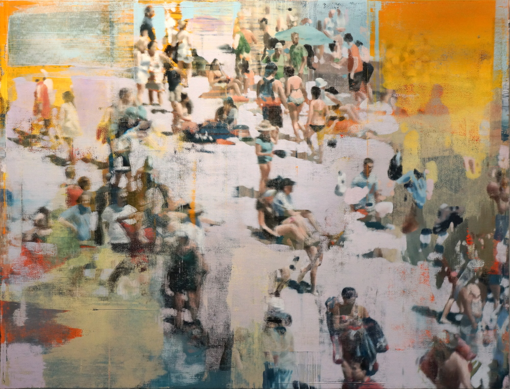 "Composition Of A Day, Oil on Linen on Panel, 2014, 72"" x 94"""
