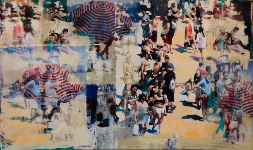 "Santa Clara Beach, Oil on Linen on Panel, 2015, 72"" x 120"""