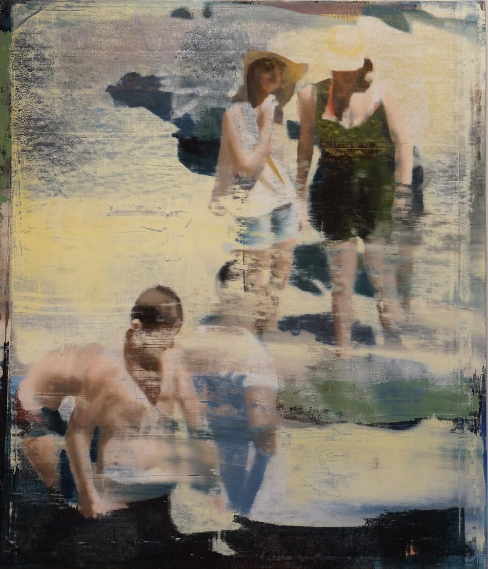 """August, Oil on Linen on Panel, 2014, 56"""" x 48"""""""
