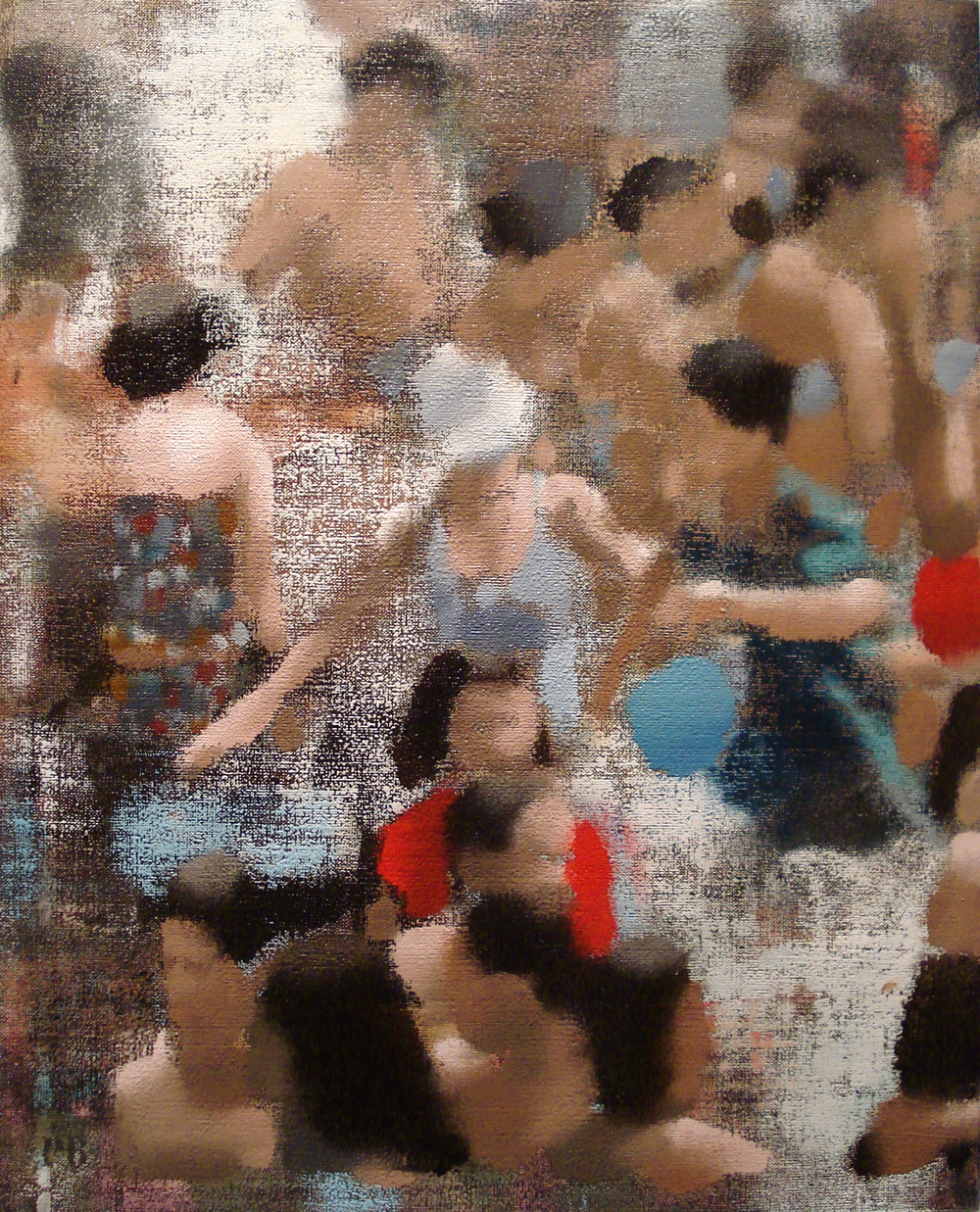 "Group, Oil on Linen on Panel, 2012, 30"" x 24"""