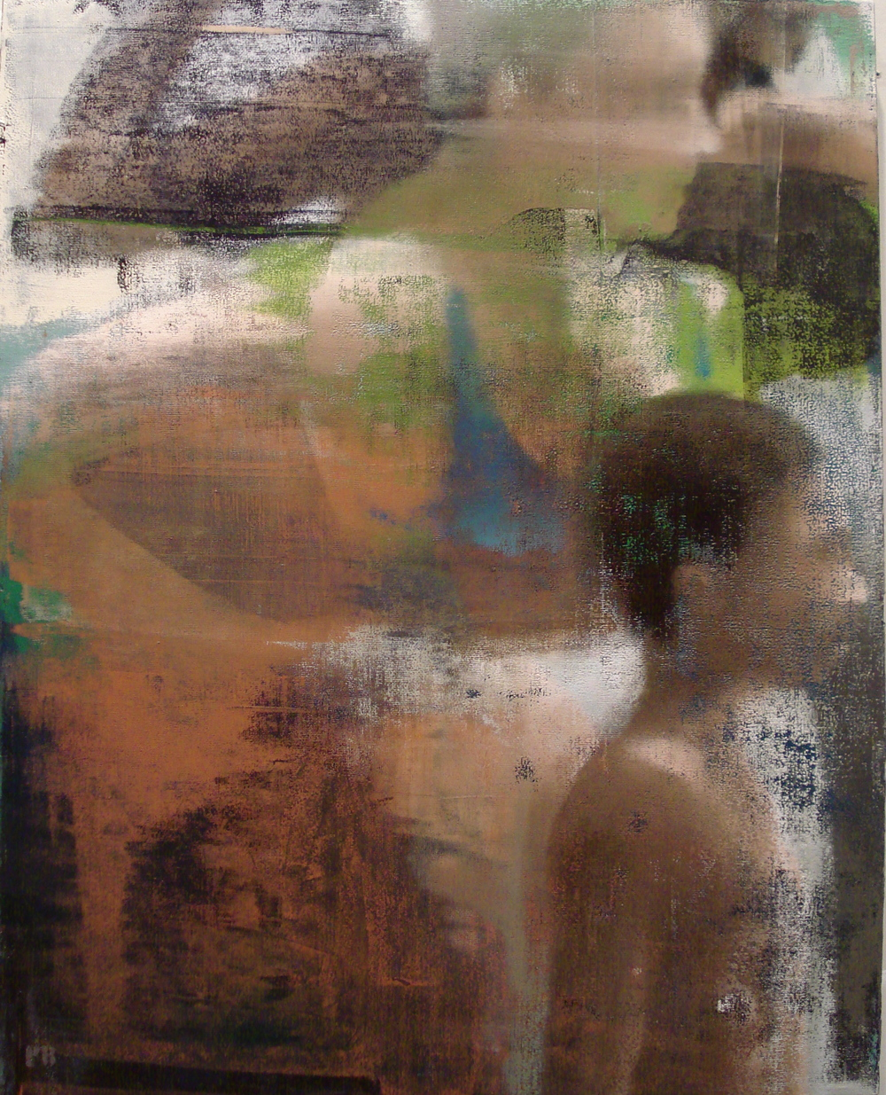 "Here, Oil on Linen on Panel, 2012, 40"" x 32"""
