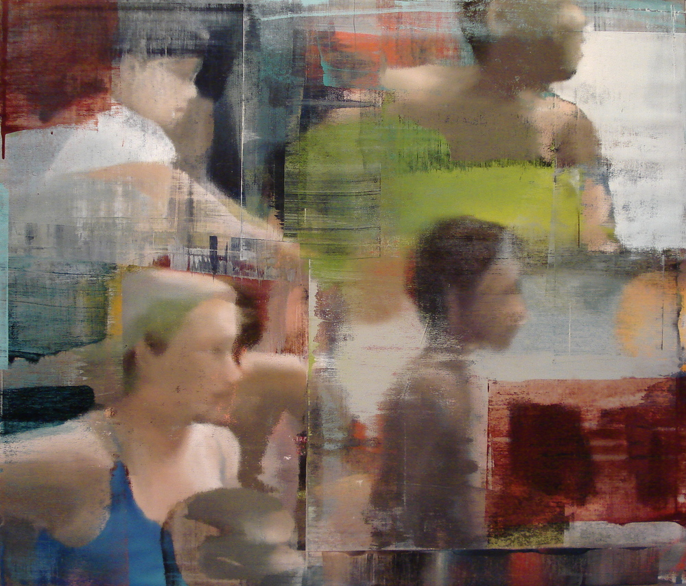 "Small Group, Oil on Linen on Panel, 2012, 48"" x 56"""