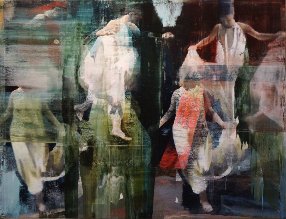 "Parting, Oil on Linen on Panel, 2014, 72"" x 94"""