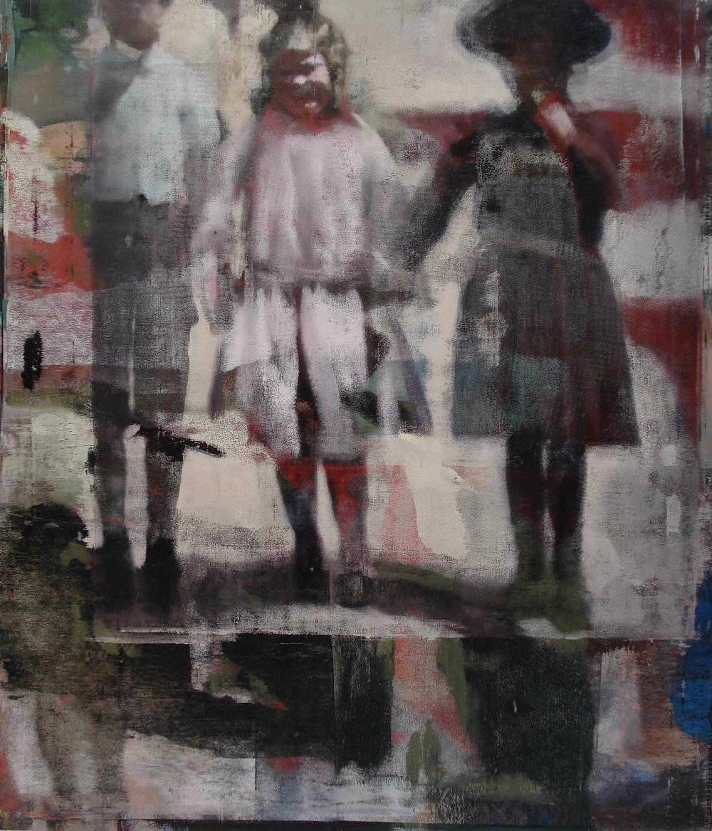 """Children #1, Oil on Linen on Panel, 2010, 56"""" x 48"""""""