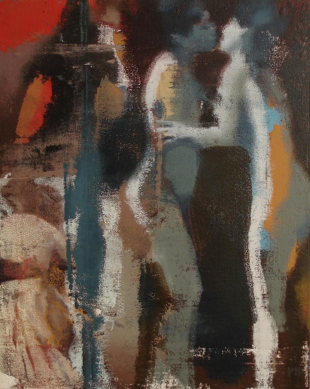 """Fire, Oil on Linen on Panel, 2010, 30"""" x 24"""""""