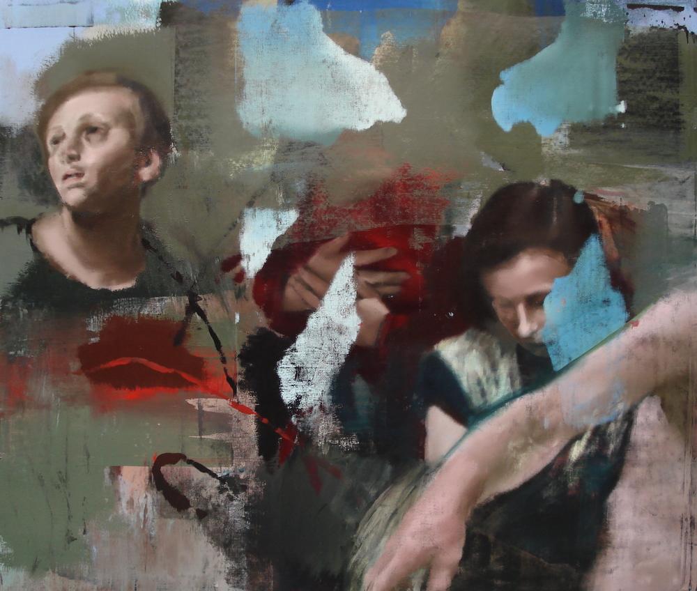 """Storm, Oil on Linen on Panel, 2010, 68"""" x 80"""""""