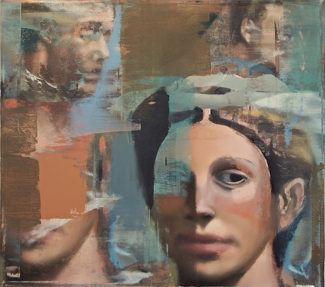 "Face, Trace of Collar, Oil on Linen on Panel, 2007, 60"" x 68"""