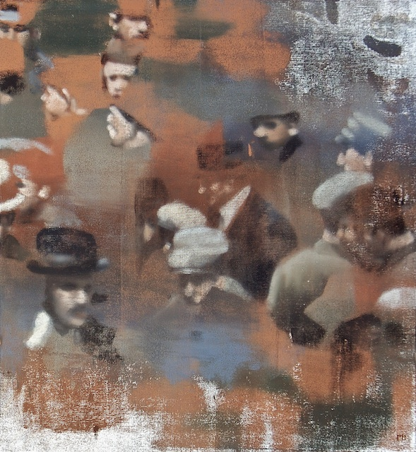 "Ghost of Crowd, Oil on Linen on Panel, 2007, 52"" x 48"""