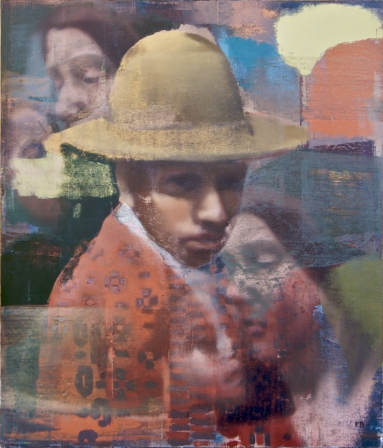 "Man Woman Child, Oil on Linen on Panel, 2007, 56"" x 48"""
