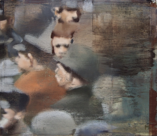 "Somebody's Ancestors, Oil on Linen on Panel, 2007, 26"" x 30"""
