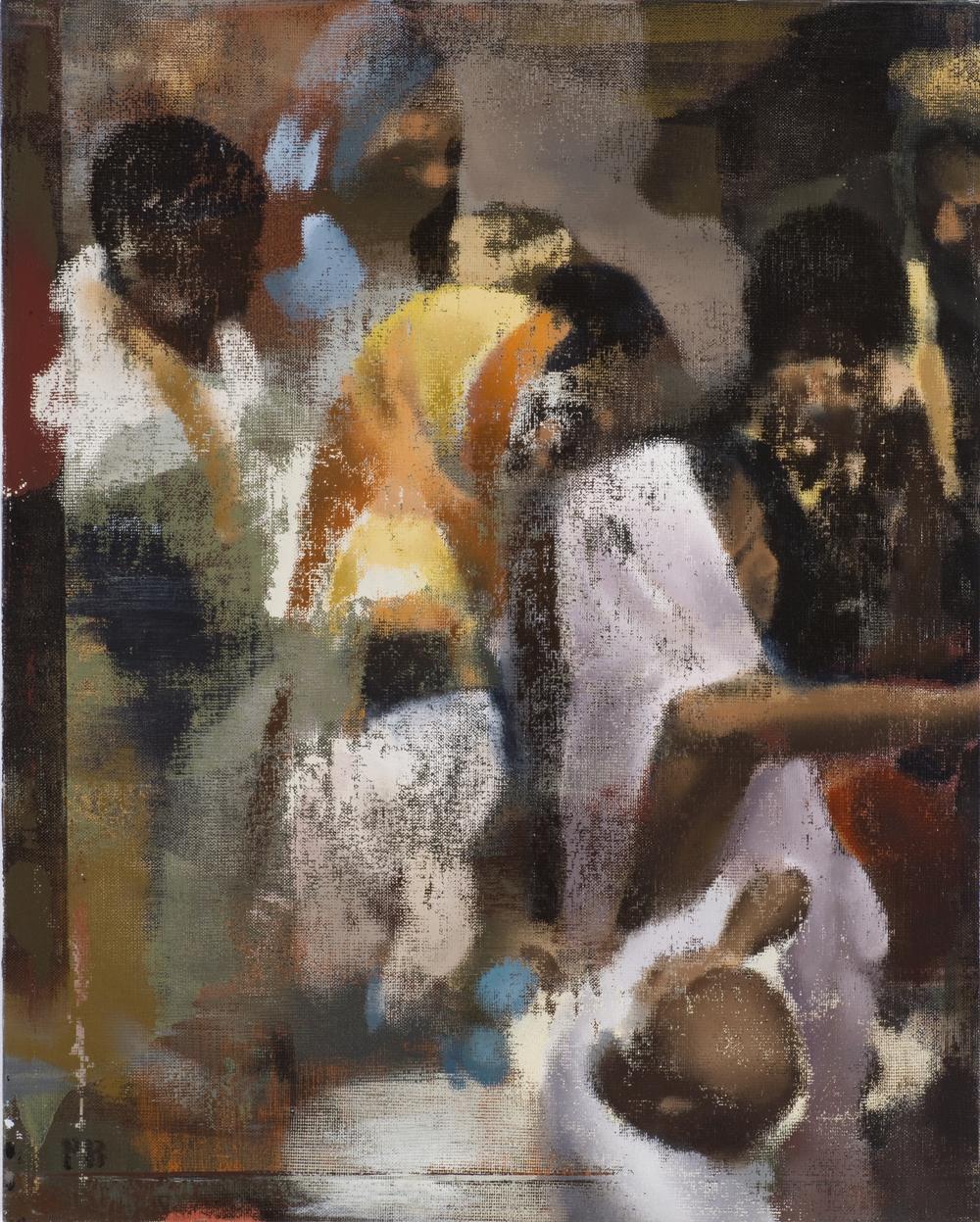 "Pointing, Oil on Linen on Panel, 2008, 30"" x 24"""