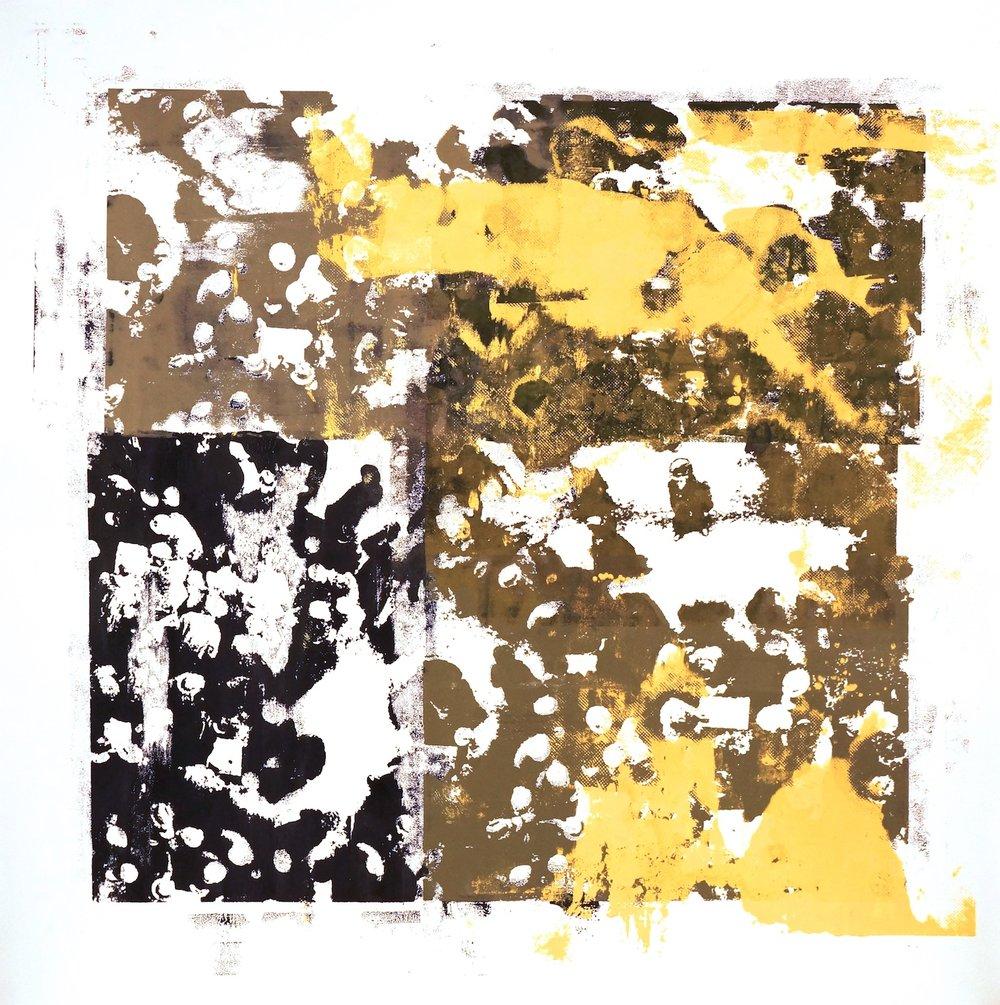 Buller I 2017 I Closer I 51x51 OD I Oil on Resin Paper