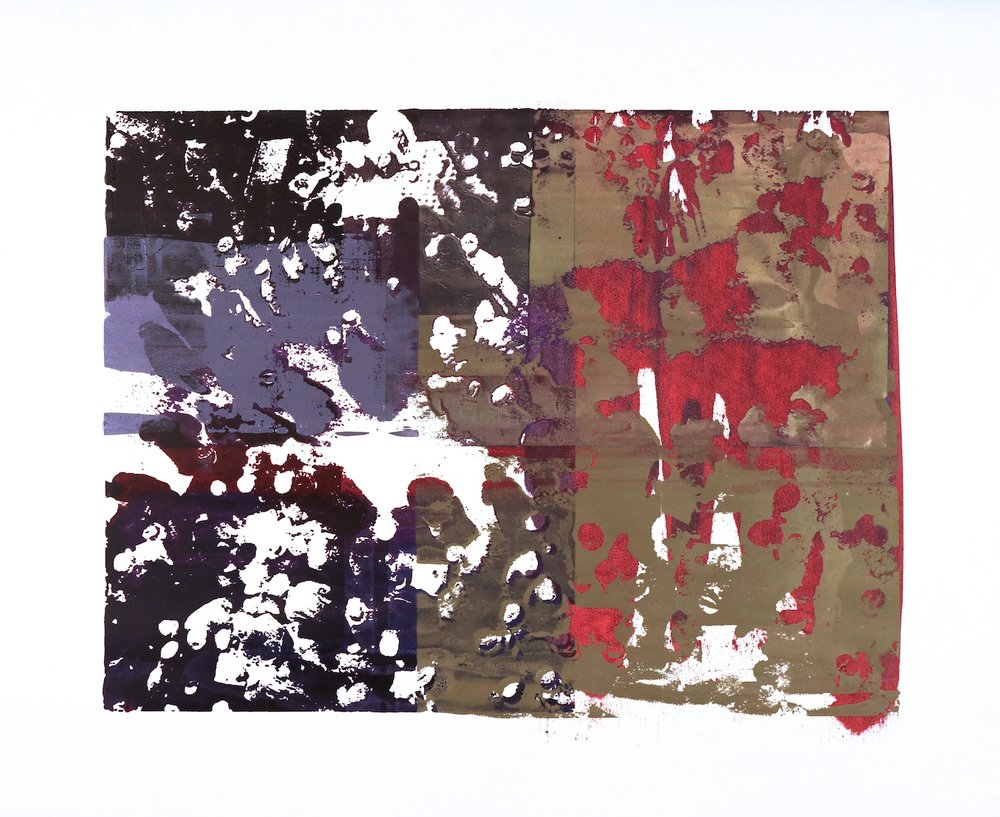 Buller I 2017 I Gathering I 42x51 OD I Oil on Resin Paper