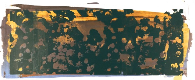 Buller I 2017 I Long Crowd I 22 x 51 I Oil on Resin Paper