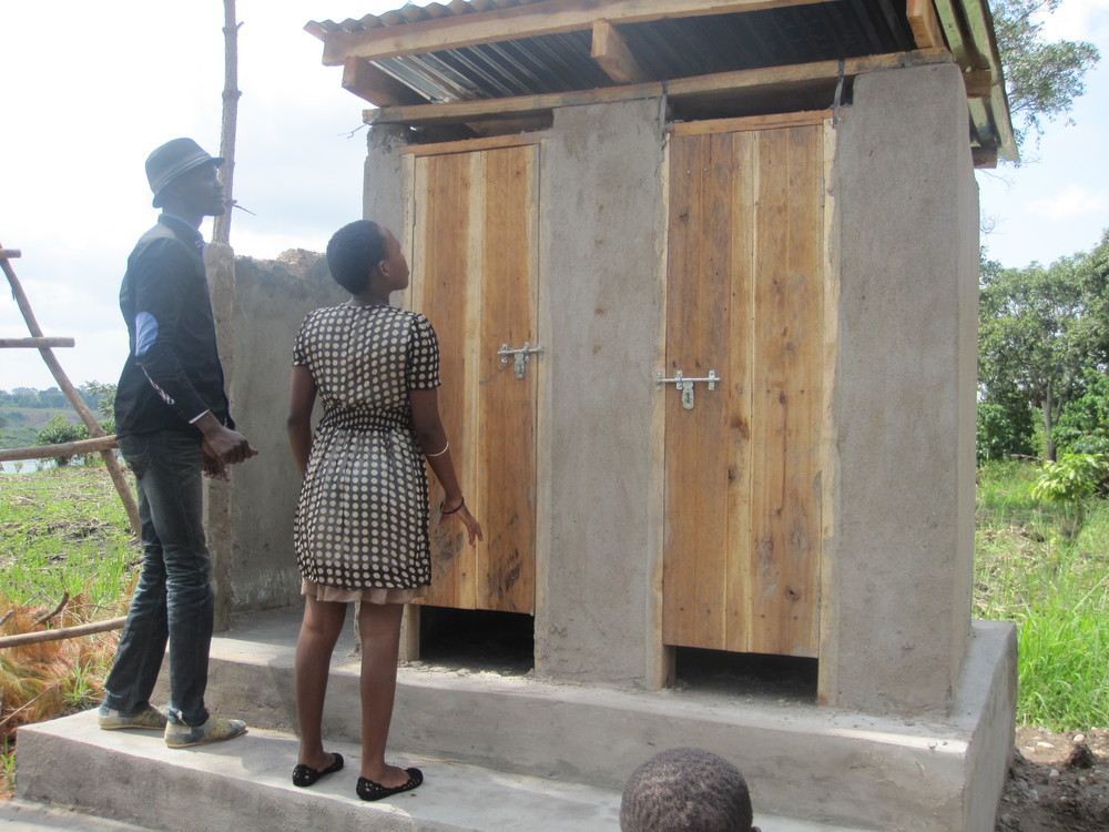Bathrooms constructed in anticipation of the project resuming
