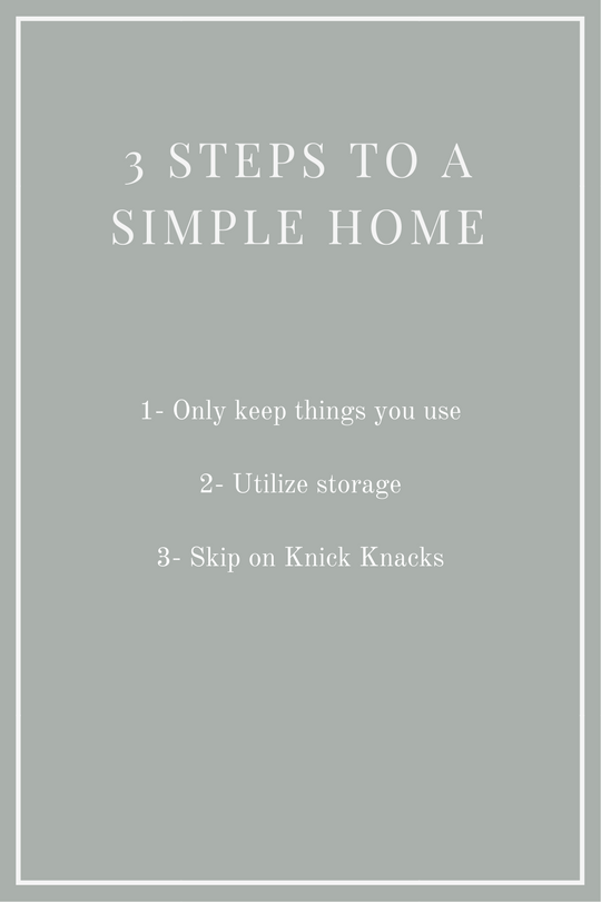 simplifying your home in 3 steps
