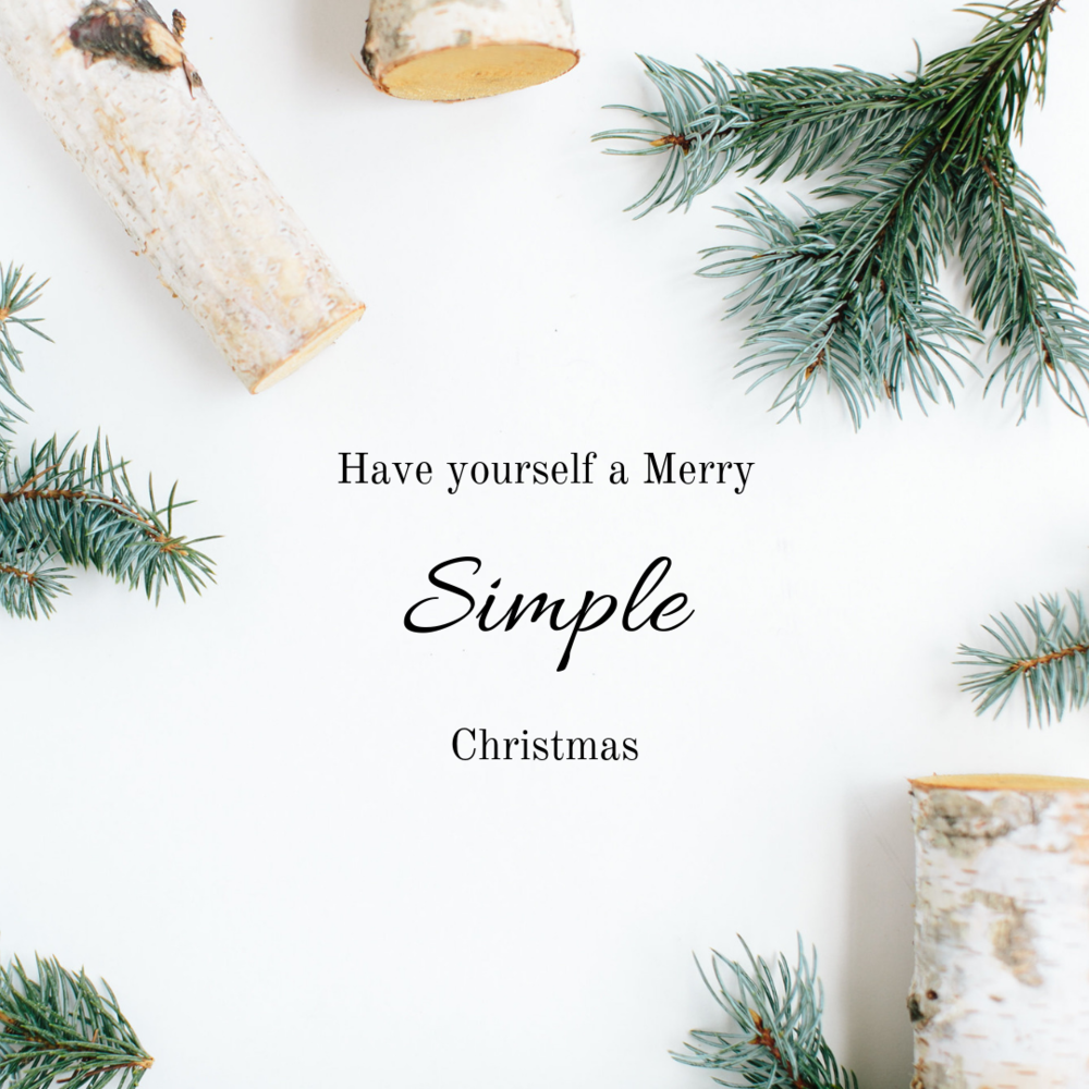 keep Christmas simple