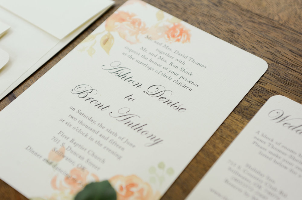 Watercolor Floral Invite