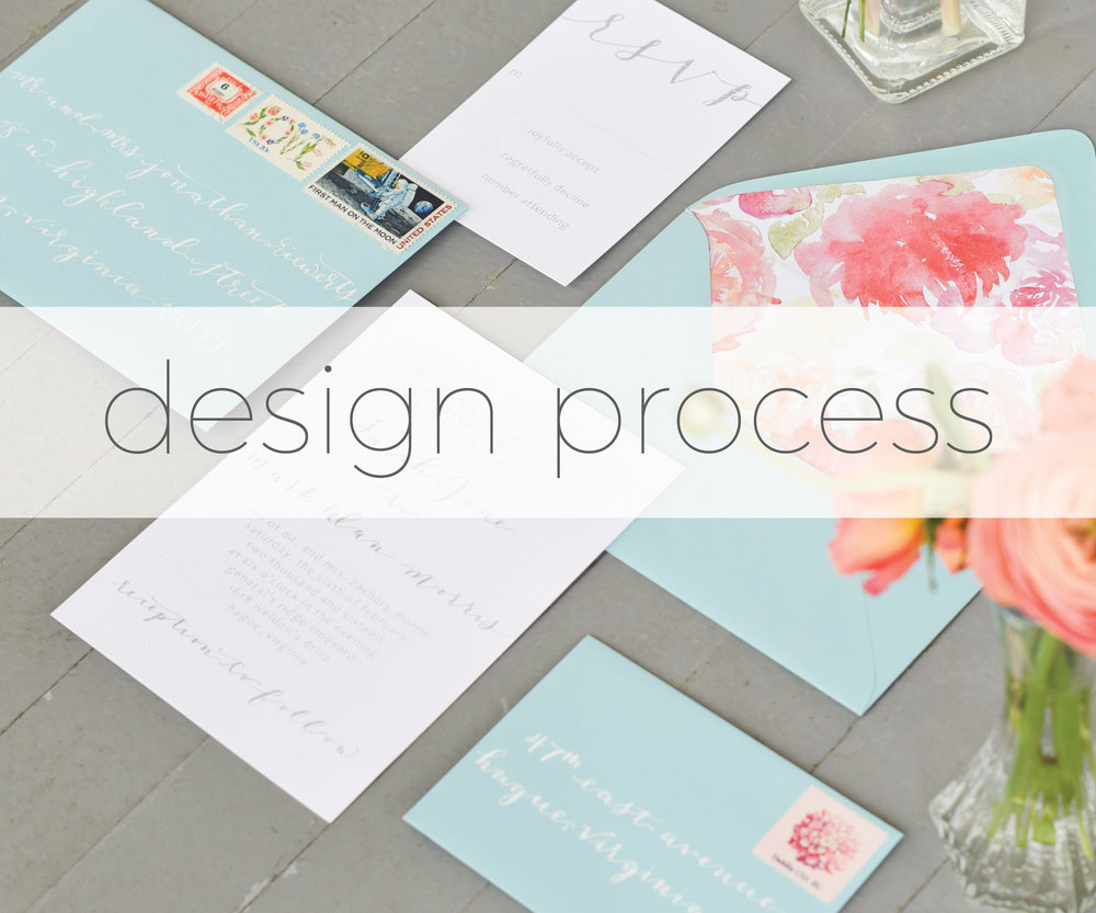 Wedding invitation and calligraphy design process rachel kathryn wedding invitation and calligraphy design process stopboris Choice Image