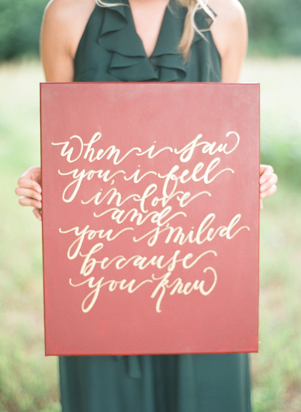 Wedding Calligraphy Quote Signage