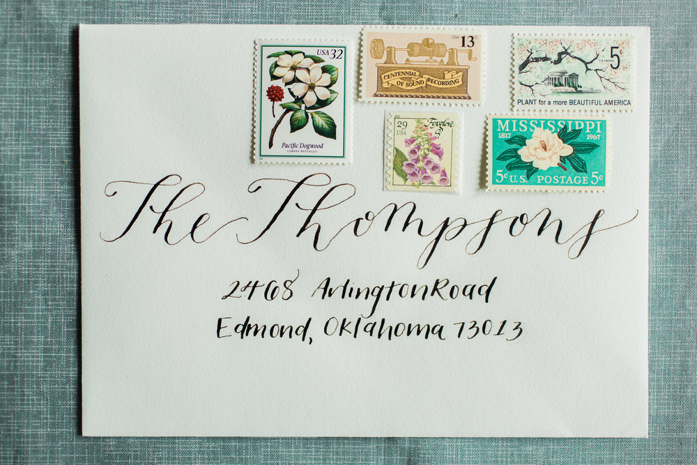 Modern Addressed Envelope with Danielle Calligraphy Style