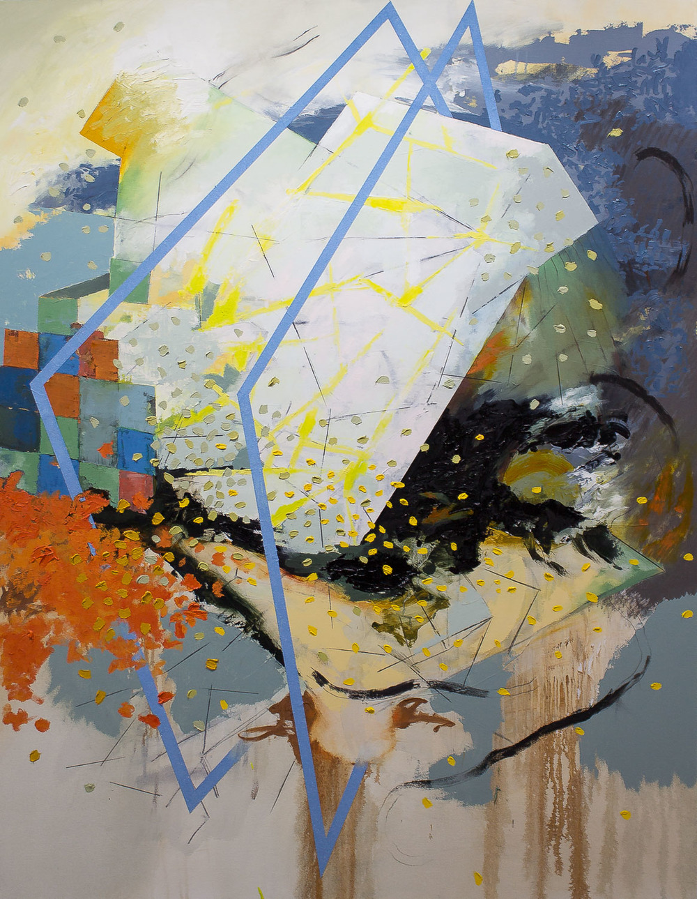 "Duwamish Gateway , 2016 oil on canvas 61.5 x 48"""