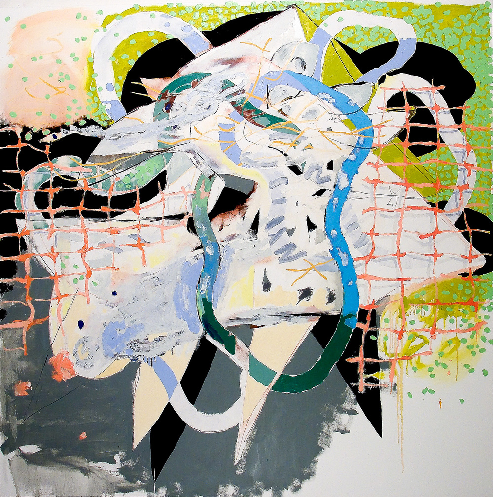 Gill Net (Laocoön Series)  , 2010 Oil on canvas 62 x 62""