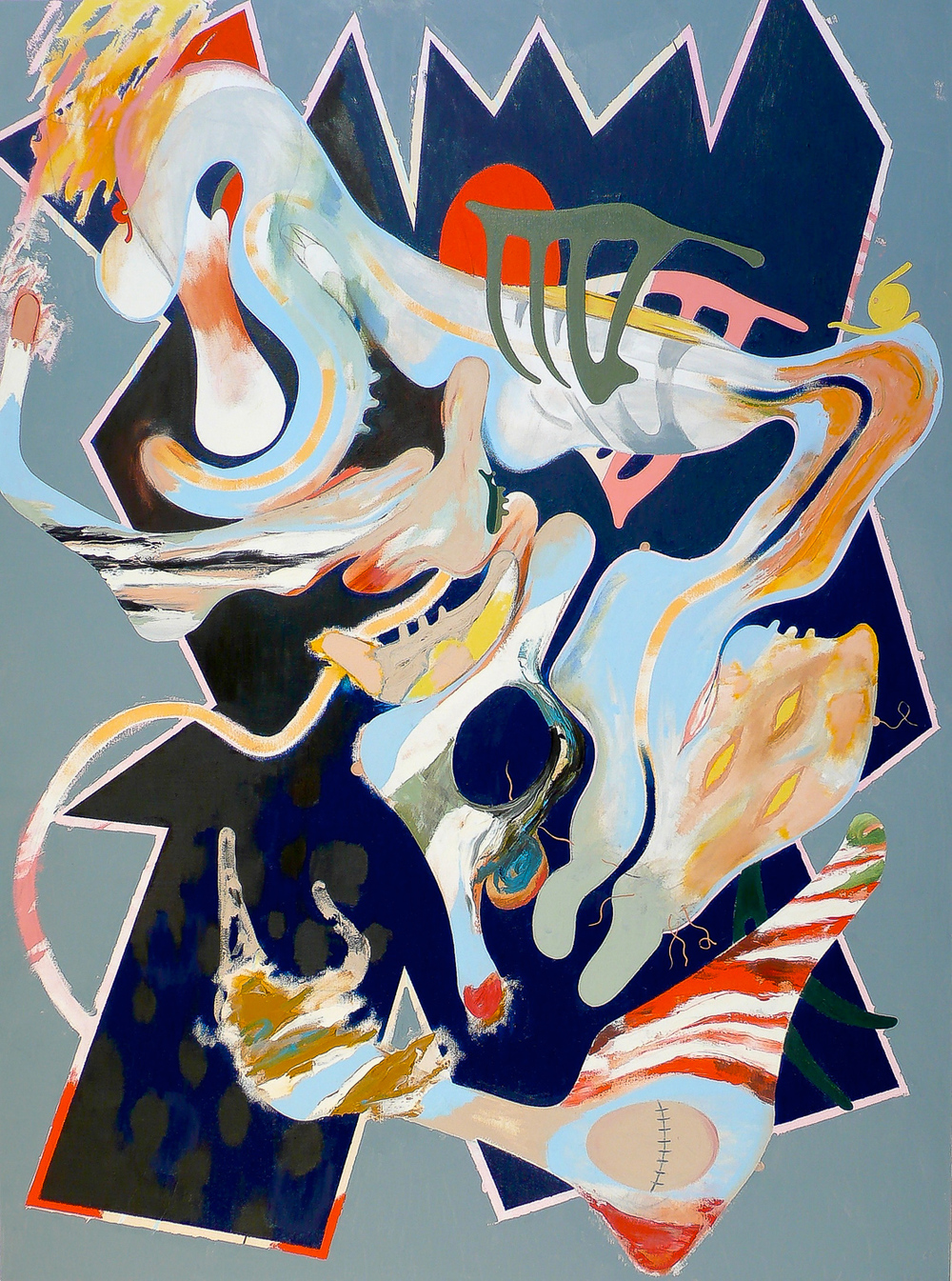 Psychosomatic 8 , 2007 Oil on canvas 66 x 48""