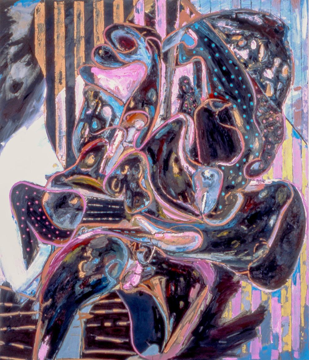 """Night Walker , 2004   Oil on canvas   92 x 78"""""""
