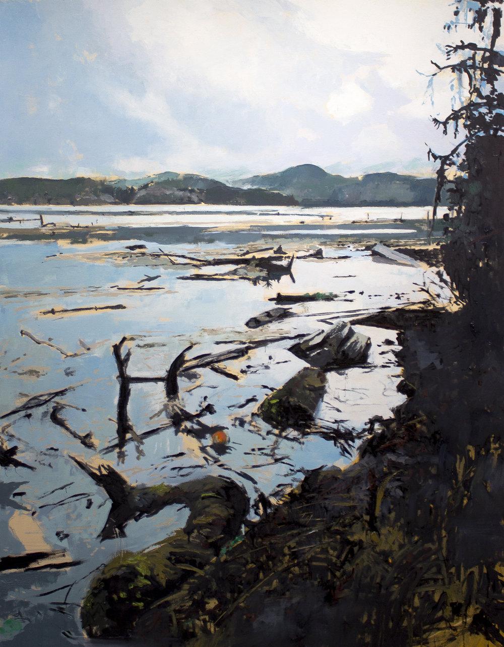 "Rearrangement , 2016 oil on canvas 48 x 61.5"""