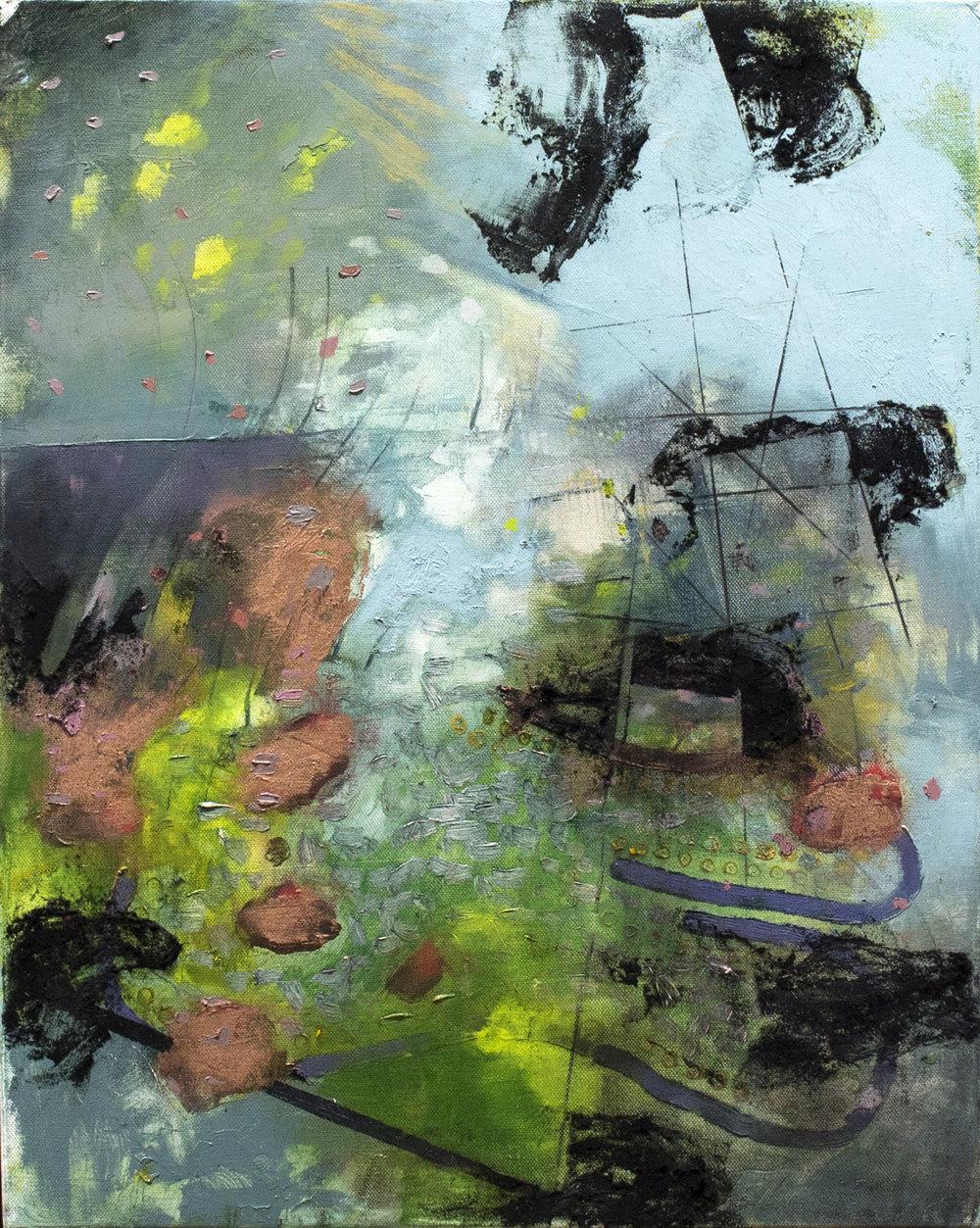 "Leaching Light , 2018 oil on canvas 24 x 18"""